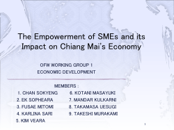 THE IMPACT OF FDI AND SMEs ON CHIANG MAI'S ECONOMY