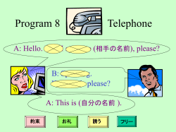Program 8 Telephone