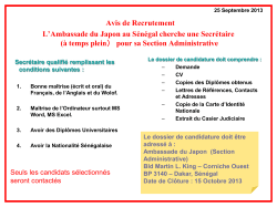 JOB ANNOUNCEMENT The Embassy of Japan, which will