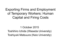 Exporting Firms and Employment of Temporary