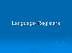 Language Registers - Glynn County School District