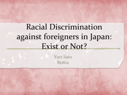 Racial Discrimination in Japan: Exist or Not
