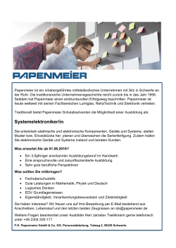 Systemelektroniker/in - FH Papenmeier GmbH & Co. KG