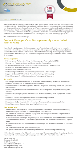 Product Manager Cash Management-Systeme (m/w)