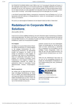 Redakteur/in Corporate Media Solutions