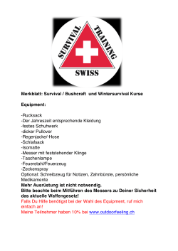 - swiss survival training