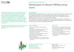 Werkstudent HR-Recruiting