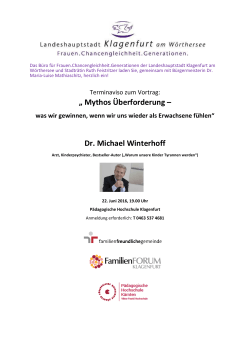 Mythos Überforderung – Dr. Michael Winterhoff