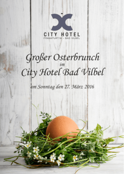 Großer Osterbrunch City Hotel Bad Vilbel