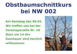 Obstbaumschnittkurs 06.02.2016