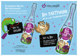Höllinger Bio Party Folder