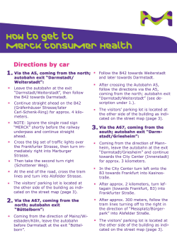 How to get to Merck Consumer Health