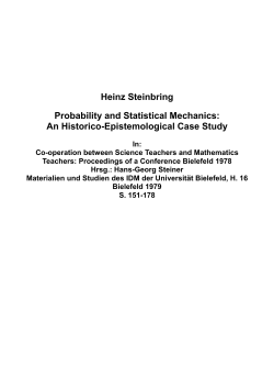 Heinz Steinbring Probability and Statistical