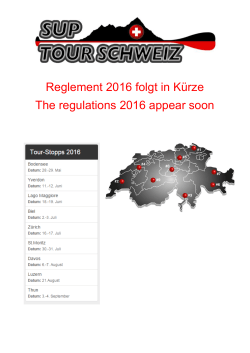 Reglement 2016 folgt in Kürze The regulations 2016 appear soon